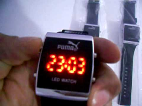 be73e84a30c Relógio De Pulso Led Puma Preto (LED Watch Black) - YouTube