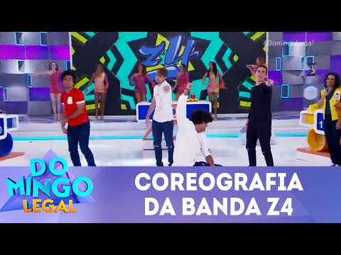 Coreografia da banda Z4 | Domingo Legal (22/07/18)