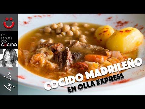 Cocido madrile o en olla express doovi - Cocido de garbanzos en olla express ...