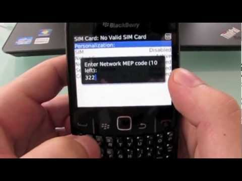 How to unlock Blackberry Curve 8520