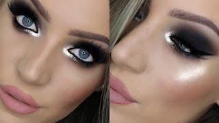 nye glam makeup tutorial for hooded eyes   stephanie lange