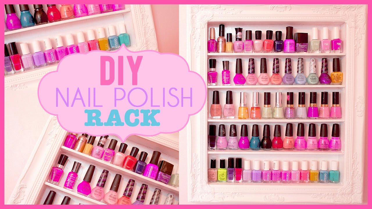 DIY Shabby Chic Nail Polish Rack | Room Inspiration - YouTube