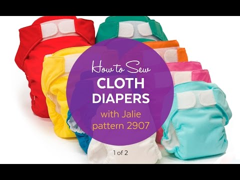 1 of 2 - How to Sew Cloth Diapers using Jalie Pattern 2907