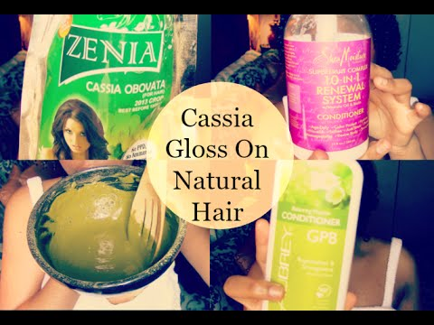 cassia gloss on natural curly hair youtube