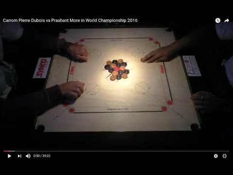 Carrom Pierre Dubois vs Prashant More in World Championship