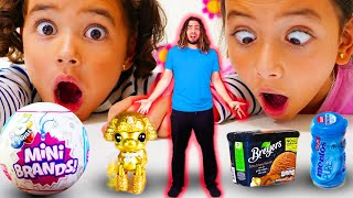We Shrunk Dad! 5 Surprise Mini Brands!