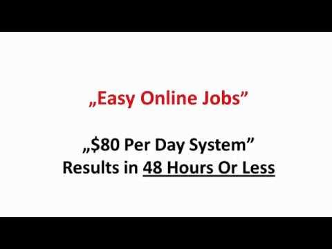 Online Job Opportunities - Make $80 Per Day