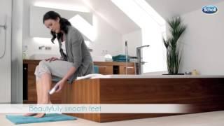 видео Be Butterfly: Электрическая роликовая пилка Scholl для домашнего ухода за кожей ног