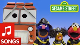 Sesame Street: The Wheels on the Fire Truck | Wheels on the Bus Remix #1