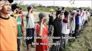 Lagu Perjuangan / Lagu Wajib - mengheningkan cipta ( Lirik ) ( SMA N 1 DEMAK )