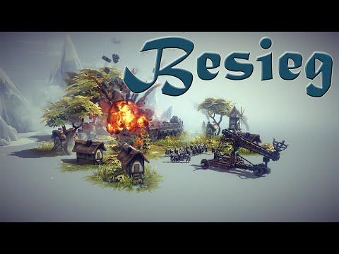 Besiege Обзор-Первый взгляд. Постройка механизма разрушения