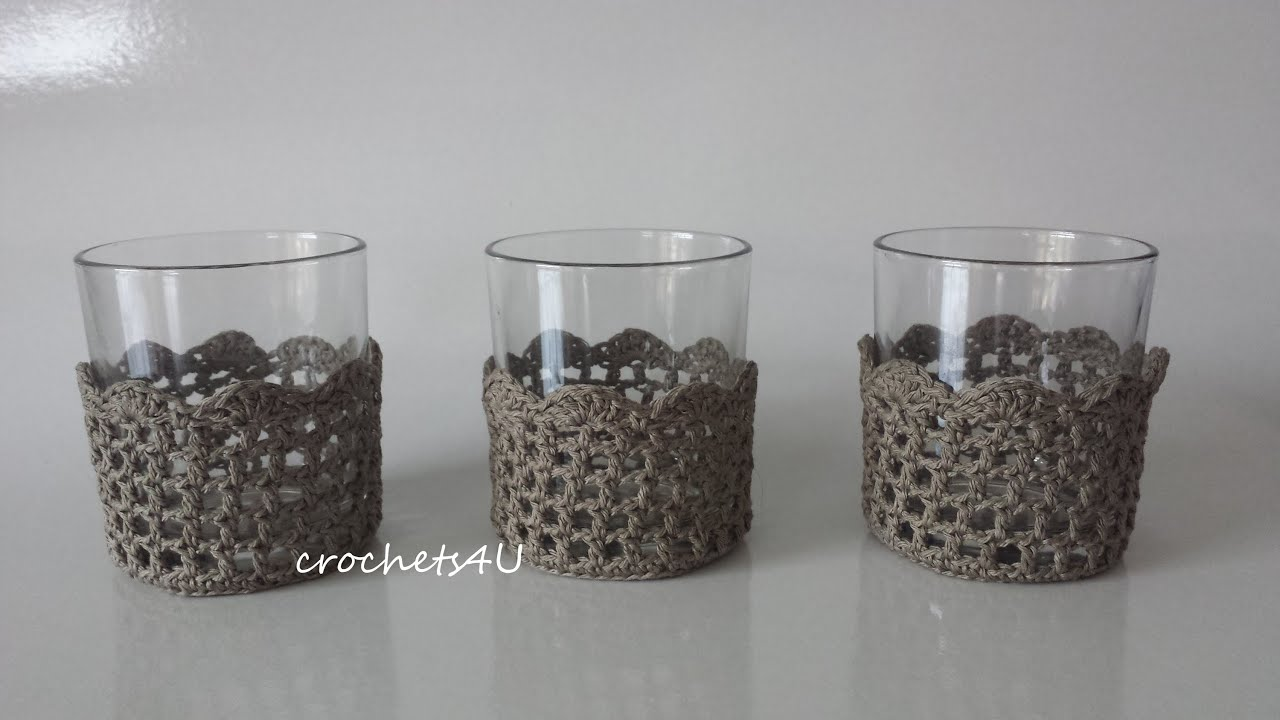 Onlineclass How To Crochet A Glass Cozy Youtube