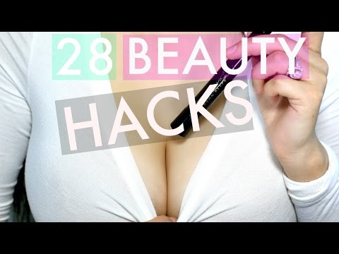 28 BEAUTY HACKS EVERY GIRL SHOULD KNOW! | MAKEUP, NAILS, HAIR + MORE!