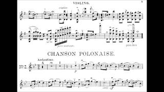 Wieniawski, Henryk 2 Mazurkas de Salon, La champêtre + Chanson polonaise op. 12 for violin + piano