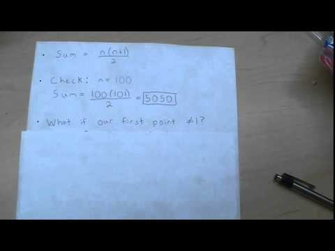 How to Find the Sum of All Integers Between Two Points