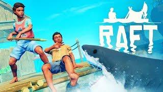 New - Building Huge Raft & Shark Attacks | Raft Multiplayer Gameplay