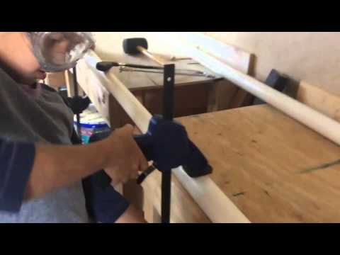 how to make a ballet bar out of PVC pipe