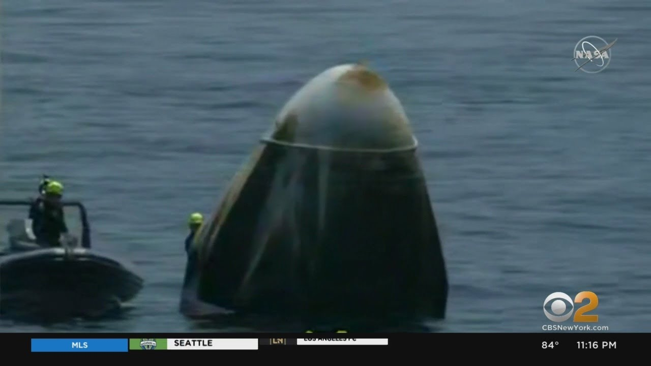 SpaceX Crew Dragon Safely Returns To Earth - CBS New York