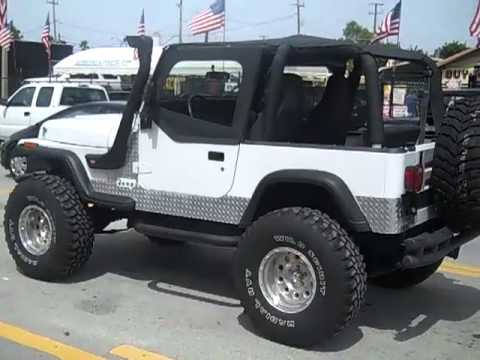 Lifted Jeep Renegade >> 1993 JEEP WRANGLER FOR SALE LIFTED!! CALL (954)937-8271 - YouTube