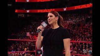 WWE Raw 1/ 29/18 Sasha Bank interrupts Stephanie McMahon & Asuka