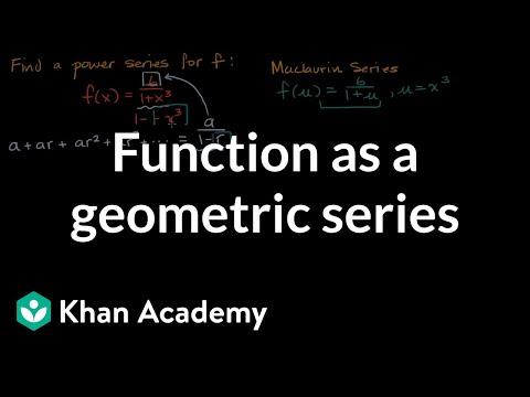 Viewing function as sum of geometric series