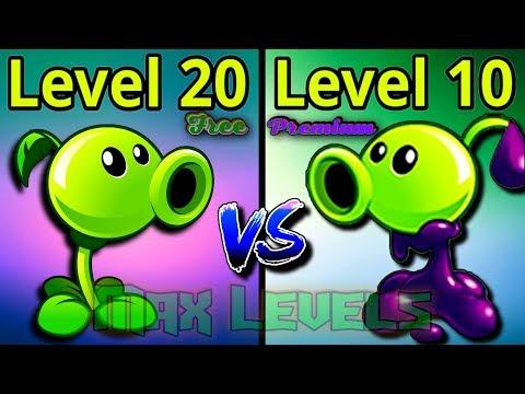 Plants vs Zombies 2 Overview Peashooter 20 VS Goo Peashooter 10 Free vs Premium Plants PVZ 2