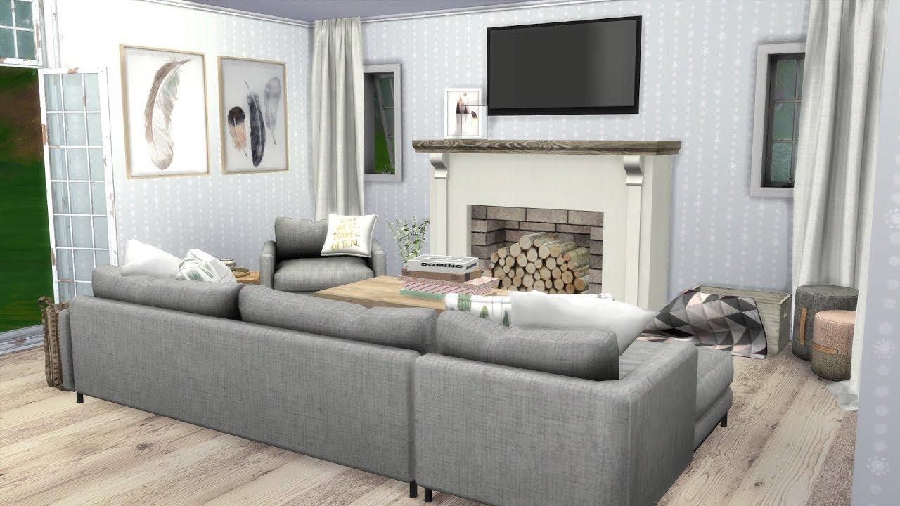 The Sims 4 Speed Build  SCANDINAVIAN HOUSE  CC LINKS