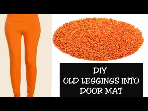 DIY OLD LEGGING INTO DOORMAT/ REUSE OF OLD CLOTHES(Hindi)