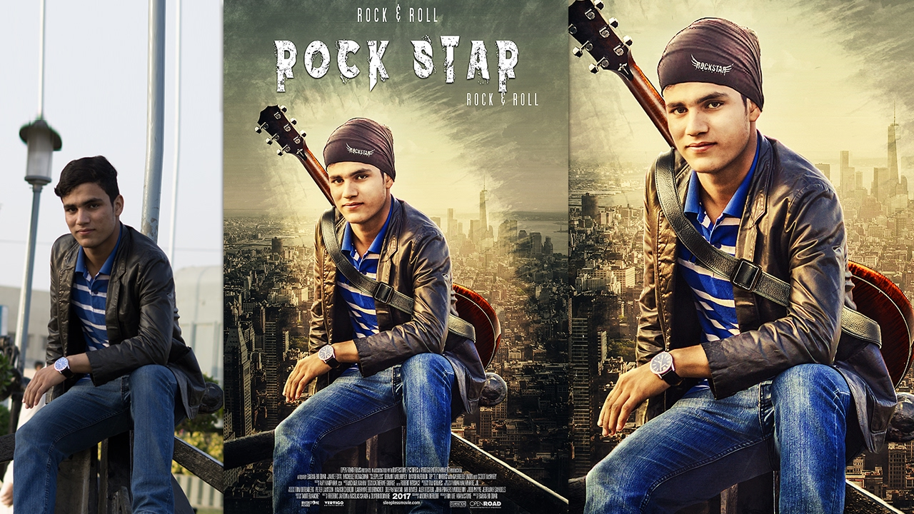 Poster design jeans - Movie Poster Design Creat Rock Star Movie Poster Adobe Photoshop Tutorial