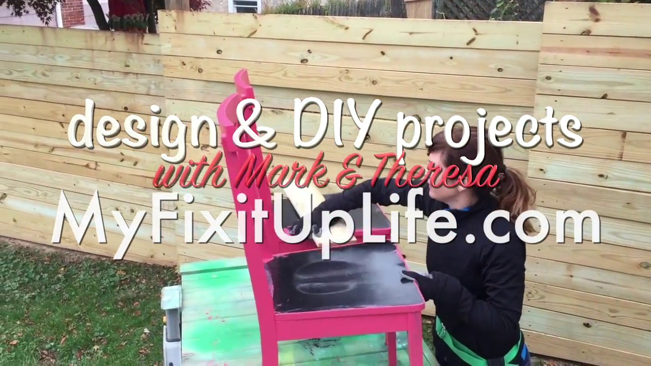we upcycled dining room chairs into benches with paint + pallets