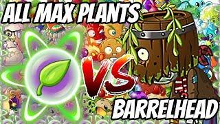Barrel Head Zombies vs Each Max Level Plants Ultimate Power UP Plants vs Zombies 2 Epic MOD