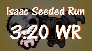 Isaac Afterbirth - Non Eden 3:20 Speedrun WORLD RECORD with Isaac vs Dark Room (seeded)