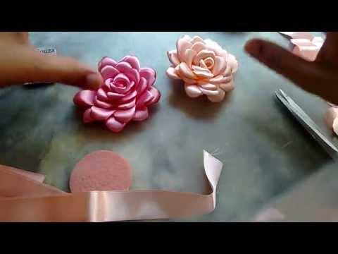 Flor boleada de fita, PARTE 1 JULIANA SOUZA
