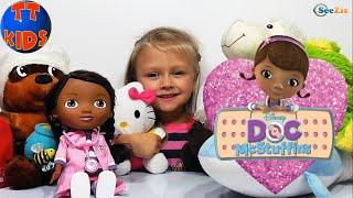 ✔ Кукла Доктор Плюшева лечит Пациентов в Больнице у Ярославы. Видео для девочек. Doc Mcstuffins ✔