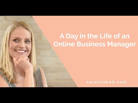 A Day In The Life Of An Online Business Manager - Sarah Noked OBM