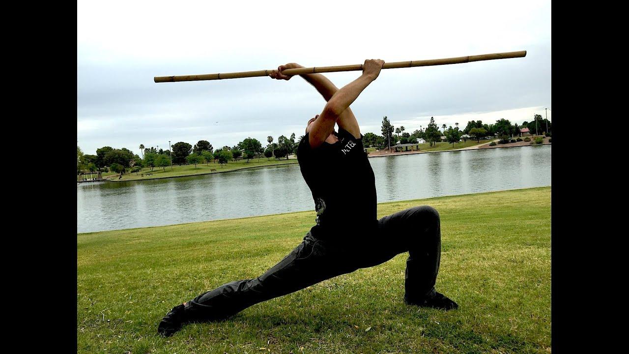 Kung Fu BO STAFF Kata - Impressive!