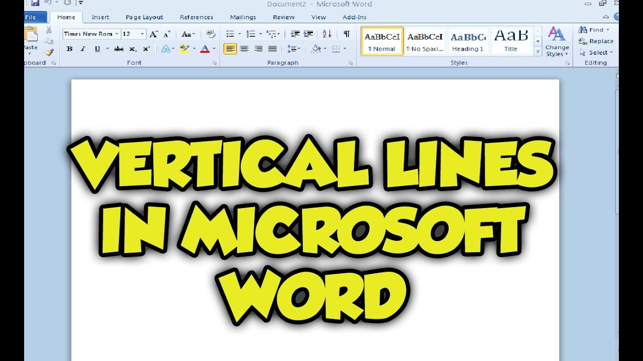 Drawing Lines With Microsoft Word : How do you make a straight line on microsoft word