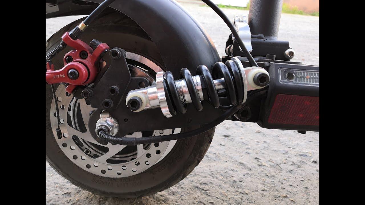 KUGOO M4 Pro 17 Ah!Замена задних сток аморов и сток болтов в передней вилке для более мягкой езды