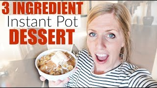 Instant Pot Apple Dump Cake - Three Ingredient Dessert - Perfect for Beginners!