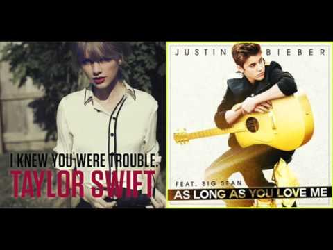 trouble & as long as you love me mashup