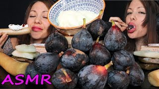 ASMR WEIRD COMBINATION of FIGS AND KOREAN RICE CAKES | NO TALKING EATING SOUNDS