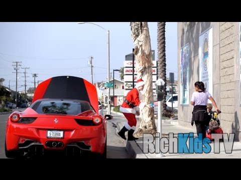 Ferrari santa claus spreading christmas spirit for Ferrari christmas