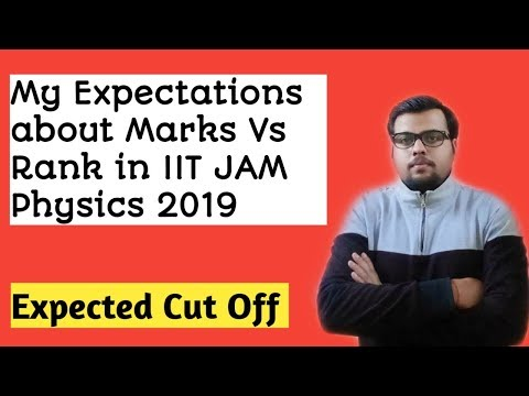 IIT JAM Physics 2019 | Expected Marks Vs Rank Statistics | Expected Cut off