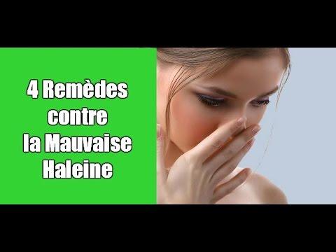 traitement contre mauvaise haleine