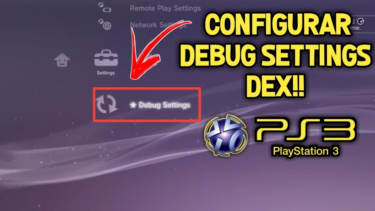 Configurando debug setings DEX ps3 destravado!!!RESOLVER O ERRO (80023017)
