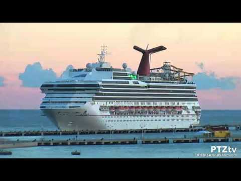 CARNIVAL SUNSHINE Sail-away on Port St Maarten Webcam : 09/22/2015