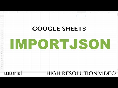 IMPORTJSON Function - Google Sheets Tutorial - How to Import JSON feed to Spreadsheets