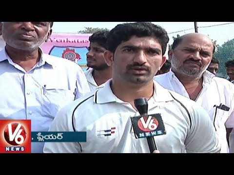Nakrekal MLA Vemula Veeresham Launches Venkataswamy Memorial Telangana T-20 Logo | V6 News