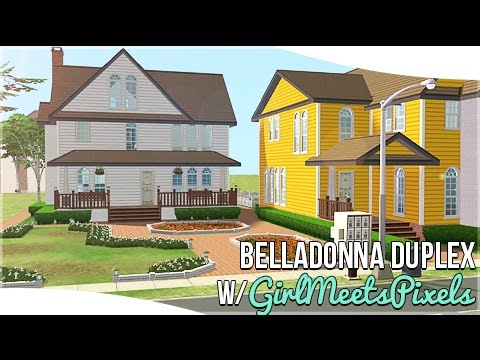 The Sims 2: House Building || BellaDonna Duplex || w/GirlMeetsPixels || #DesignandDecorate