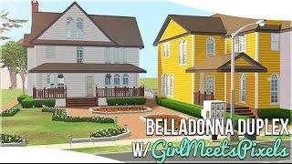 The Sims 2: House Building || BellaDonna Duplex || w/GirlMeetsPixels || #DesignandDecorate